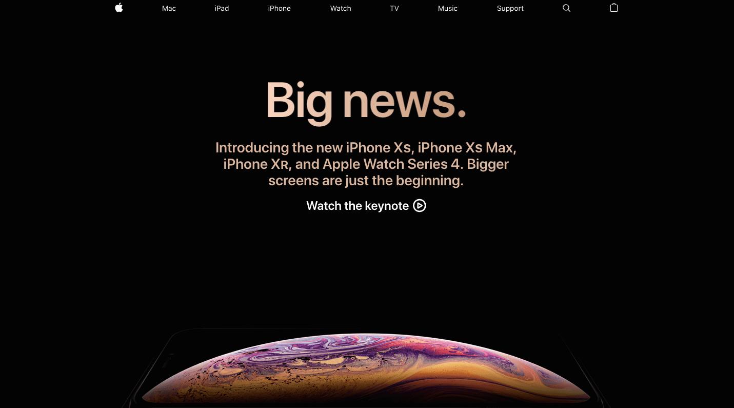 Website của Apple cho thấy sự tối giản nhưng tạo thuận tiện cho khách hàng- Chiến lược marketing của Apple