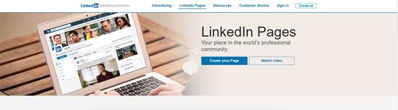 truy cập LinkedIn Pages